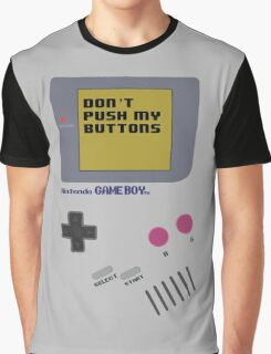 Nintendo - Don't Push My Buttons (Original Gameboy) Graphic T-Shirt