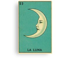 Tarot Card - La Luna - loteria - The moon Canvas Print
