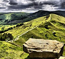 The Ridge to Mam Tor. Back Tor Derbyshire by Darren Burroughs