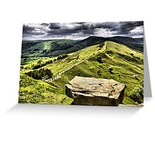 The Ridge to Mam Tor. Back Tor Derbyshire Greeting Card