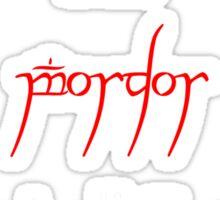 Souviner from Mordor in White Sticker