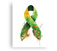 green ribbon Canvas Print