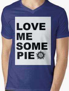 Love Me Some Pie Mens V-Neck T-Shirt