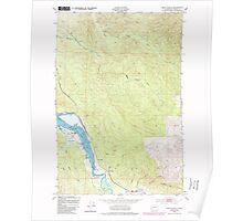 USGS Topo Map Washington State WA Oman Ranch 242957 1949 24000 Poster