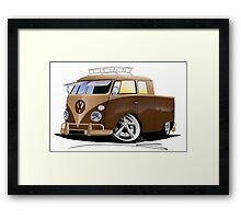 VW Splitty Crew Cab Pick-Up (B) Framed Print