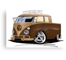 VW Splitty Crew Cab Pick-Up (B) Canvas Print