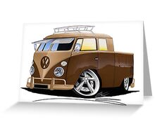VW Splitty Crew Cab Pick-Up (B) Greeting Card