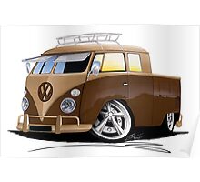 VW Splitty Crew Cab Pick-Up (B) Poster
