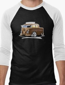 VW Splitty Crew Cab Pick-Up (B) Men's Baseball ¾ T-Shirt