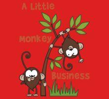 Baby Monkeys - A Little Monkey Business Kids Tee