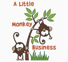 Baby Monkeys - A Little Monkey Business Kids Tee