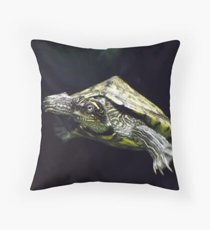Yellow-Bellied Slider Turtle Throw Pillow