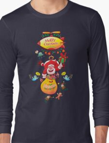 Santa has a Zeppelin to Deliver Christmas Gifts Long Sleeve T-Shirt