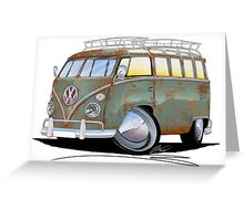 VW Splitty (23 Window) D Greeting Card