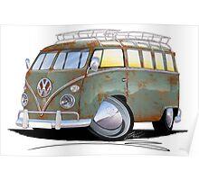 VW Splitty (23 Window) D Poster