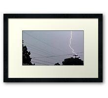 Lightning 2012 Collection 30 Framed Print