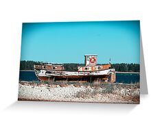 Le Boat. Greeting Card