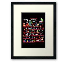 1980s Arcade Heroes Framed Print