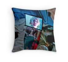 Compact collage Throw Pillow
