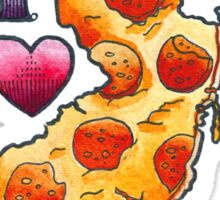 I Love New Jersey Pizza Sticker