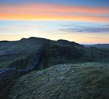Hadrian's Wall at Caw Gap by Joan Thirlaway