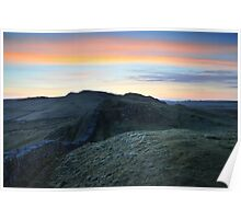 Hadrian's Wall at Caw Gap Poster