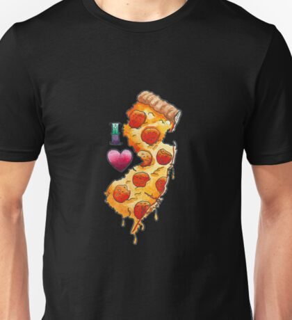I Love New Jersey Pizza Unisex T-Shirt