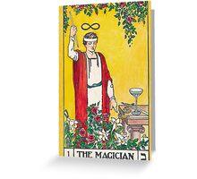 Tarot Card - the Magician Greeting Card