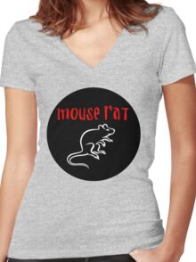 MOUSE RAT - The Band is Back in Town! Women's Fitted V-Neck T-Shirt