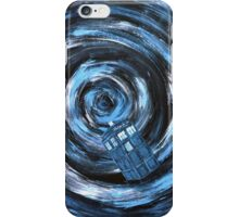 Doctor Who inspiration - Travelling with the Tardis iPhone Case/Skin