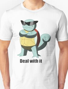 """Squirtle says """"Deal with it"""" T-Shirt"""