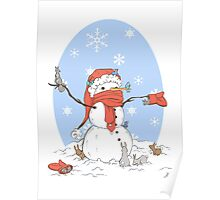 Snowman's Furry Friends Poster