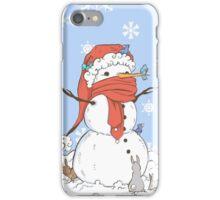 Snowman's Furry Friends iPhone Case/Skin