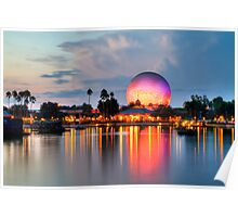 Dusk Descends on EPCOT Poster