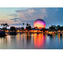 Dusk Descends on EPCOT Photographic Print