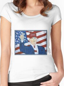 Standing up for America Women's Fitted Scoop T-Shirt