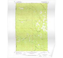 USGS Topo Map Washington State WA Winchester Peak 244736 1968 24000 Poster