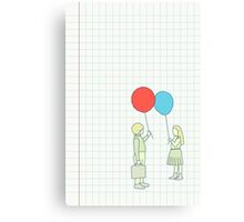 le ballon rouge Canvas Print