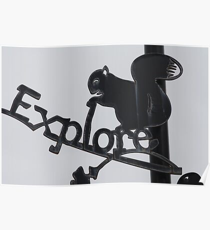 Explore the Island Sign Poster