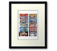 Arcade Board Games Framed Print