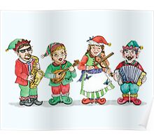 Santa's Band of Elves Poster