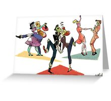 Zombie Dance Party Greeting Card