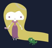 Tangled Rapunzel with Pascal Kids Clothes