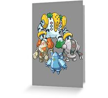 Legendary Titans  Greeting Card