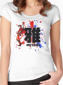 Red Mist Of Miyavi Women's Fitted Scoop T-Shirt