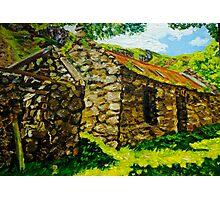 """At Galboly, Deserted Clachan, Glens of Antrim."" Photographic Print"
