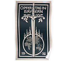 Opfertag in Bayern 1916 1229 Poster