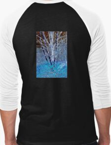 Blue Leaves Men's Baseball ¾ T-Shirt