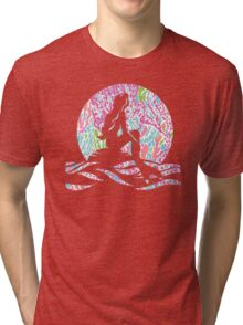 Lilly Pulitzer Inspired Mermaid - Let's Cha Cha Tri-blend T-Shirt