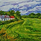 """Deserted Cottages on The Loup Road, near Cookstown, County Tyrone. "" by Laura Butler"